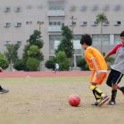 5 people soccer game elementary school