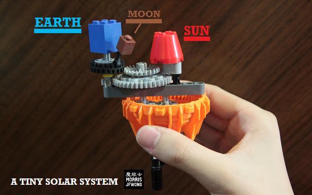 diy solar system kids brick