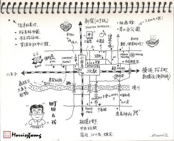 町田的私房手绘地图