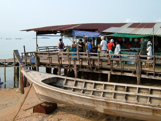 wooden boad in phuket island